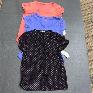 Charter Club/Hue (3-Piece) Pajama Tops New